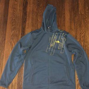 The NorthFace athletic fleece jacket. Size L
